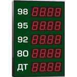Групповое офисное табло АЗС, модель Импульс-610-5x1-R