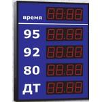 Групповое уличное табло АЗС, модель Импульс-606-4x1-DTx1-EY2