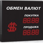Импульс-306-1x2-S11-EW2 Символьные табло валют