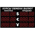 Импульс-315-3x2xZ5-EY2 Уличные табло валют 5 разрядов