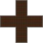 Светодиодный крест для аптек №2 (2-х сторонний)