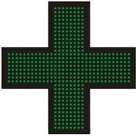 Светодиодный крест для аптек №4, модель РБС-120-32х8х2d-G