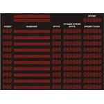Спортивное табло для авто/мото спорта №3, модель ТС-130х186_РБС-100-96х8х12b (на 6 картов)
