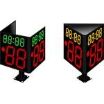 Табло времени атаки ТВА №9. (Модель FIBA) Модель ТВА-250х2_150х4_080-8х8b_х3