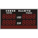 Табло курсов валют №2, модель PB-2-130х16_РБС-080-96x8d