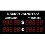 Уличное табло курсов валют Импульс-309-2x2xZ5-EB2