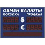 Уличное табло курсов валют Импульс-311-2x2-S8x80-ER2