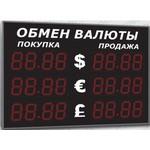 Уличное табло курсов валют Импульс-315-3x2-EB2