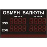 Уличное табло курсов валют, модель Alpha sign 130/2x8+ 80/96х8