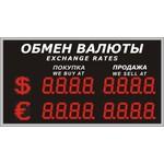Уличное электронное табло курсов валют, модель Р-8х2-270d_$_E
