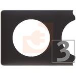 Рамка 3 поста, цвет черная перкаль, серия Celiane, пр-во Legrand