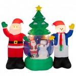 Композиция световая Неон-Найт (1.2x2.1 м) Дед Мороз и Снеговик NN-511 511-053