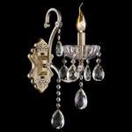 Бра Eurosvet 3108/1 античная бронза/прозрачный хрусталь Strotskis