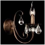 Бра Eurosvet 3305/1 черный с золотом/прозрачный хрусталь Strotskis