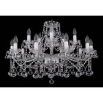 Подвесная люстра Bohemia Ivele Crystal 1413/10+5/300/Ni/Balls