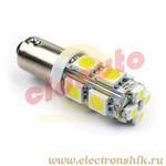 Лампа автомобильная LEDL1132 под цоколь T85 BA9S 1155T4W H6W white BL2