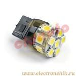 Лампа автомобильная LEDL0509 под цоколь T20 W21W 7440 W3x16d white BL2
