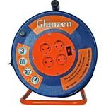 Силовой удлинитель на металлической катушке glanzen eb-50-009