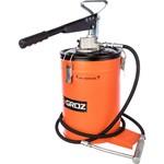 Ручной переносной нагнетатель смазки, 275 атм, емкость 10 кг, 4-9гр/ход groz gr44281 - vgp-10a