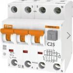 Автоматический выключатель дифференциального тока tdm авдт 63 4p c 25а 30ма sq0202-0018