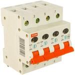 Выключатель нагрузки мини-рубильник tdm вн-32 4p 40a sq0211-0035