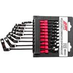 Набор комбинированных трещоточных ключей с подвижной головкой jtc 8-17 мм 9 предметов 1/15-3448