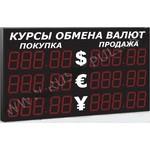 Импульс-321-3x2xZ5-ER1  Уличное табло курсов валют