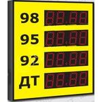 Импульс-609-4x1-EW2 Групповое уличное табло АЗС