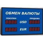 Офисное табло валют Импульс-306-2x2-Y
