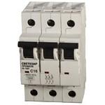 """Автоматический выключатель светозар """"премиум"""" 3п, 16 a, """"b"""", 6 ка, 400 в sv-49013-16-b"""