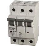 """Автоматический выключатель светозар """"премиум"""" 3п, 10a, """"c"""", 6ка, 400в sv-49023-10-c"""