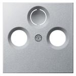 Накладка TV-FM-(SAT) розетки System 55 Gira алюминий