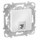 Розетка телефонная Unica 1хRJ11 (4 контакта) белая