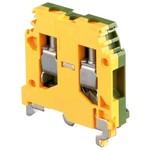 Клеммник ABB М6/8 P на DIN-рейку 6мм.кв. желто-зеленый