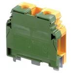 Клеммник ABB М10/10 P на DIN-рейку 10мм.кв. желто-зеленый