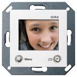 Цветной TFT-дисплей для домофона Gira System 55 + E22 Белый глянцевый