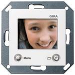 Цветной TFT-дисплей для домофона Gira System 55 Белый матовый
