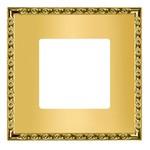 Рамка на 1 пост, гор/верт. цвет real gold