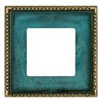 Рамка на 1 пост, гор/верт. цвет oxyde green