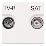 Розетка TV-R-SAT оконечная с накладкой, серия Zenit, цвет альпийский белый