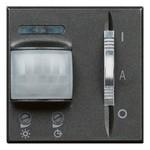 Выключатель 2 модуля с пассивным ИК-датчиком движ. с задержкой выключения 30с-10мин Axolute Антрацит