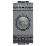Светорегулятор поворотный 100 - 500 Вт 1 модуль LivingLight Антрацит