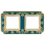 Рамка 2-ная Siena Smalto Italiano Fede Blue Sapphire