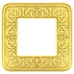Рамка на 1 пост, гор/верт, цвет bright gold