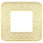 Рамка на 1 пост, гор/верт, цвет gold white patina