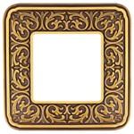 Рамка на 1 пост, гор/верт, цвет bright patina