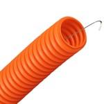 Труба гофрированная ПНД HF d50мм с протяжкой, безгалогенная оранжевая [бухта 15м]