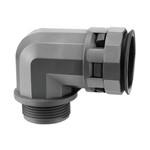 Муфта 90 грд. труба-коробка DN 12 мм, M20х1,5, полиамид, цвет чёрный DKC