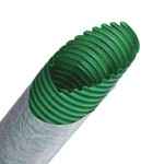 Труба гибкая двустенная дренажная д.125мм, класс SN8, перфорация 360?, цвет зеленый