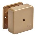 Коробка распаячная 80х80х25 о/п коричневая [уп. 70шт]